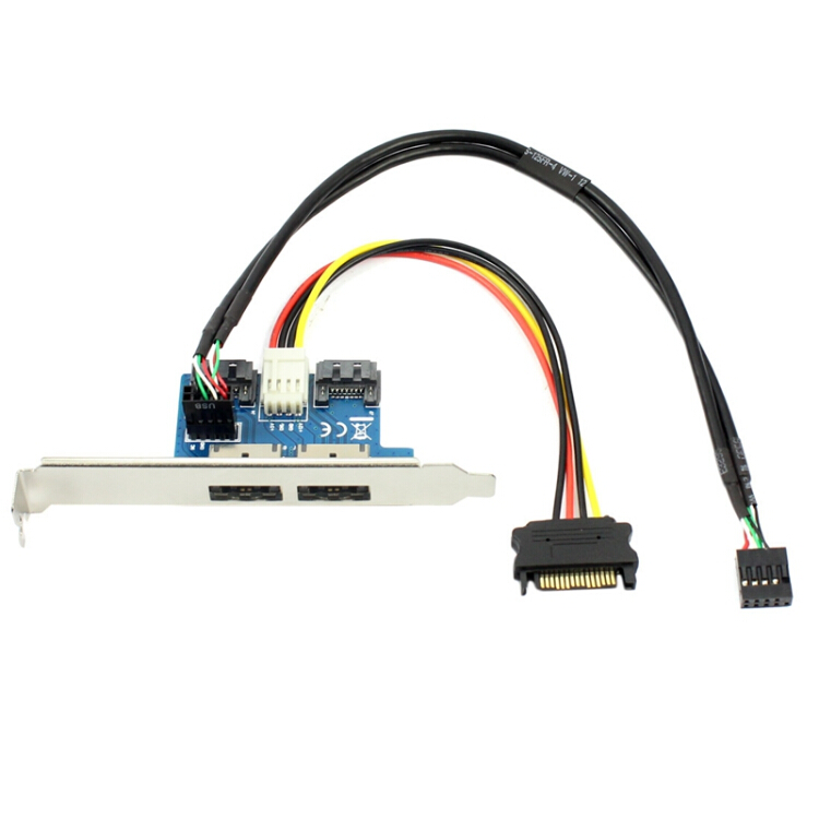 1PCS  Power 12V and 5V Power ESATA USB 2.0 combo to 22Pin 2.5 3.5 SATA cable