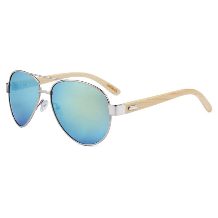 Unisex Bamboo Wood Sunglasses Fashion Metal Wooden Temple Driving Glasses New