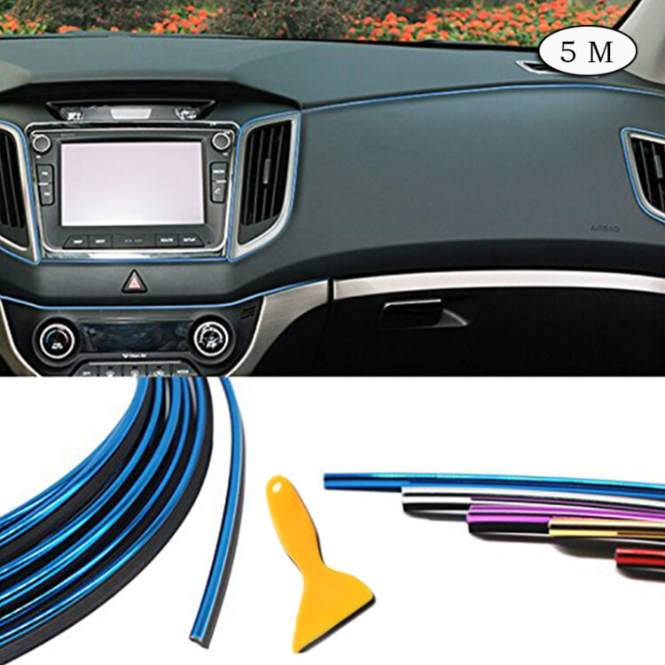 5M Flexible Car Interior External Decorative Trim Strip Moulding Line Universal