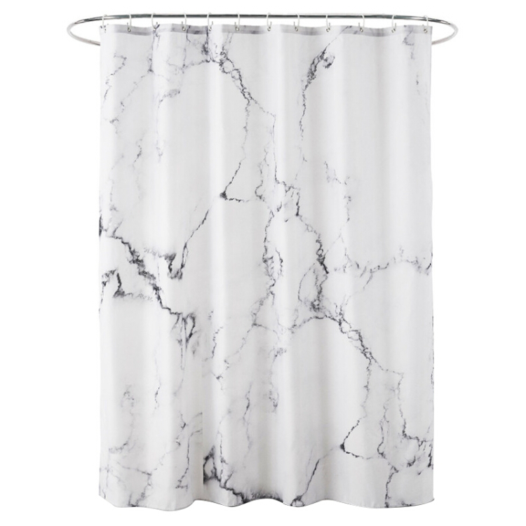 3D Water Cube Waterproof Polyester Fabric Bathroom Shower Curtain Decor
