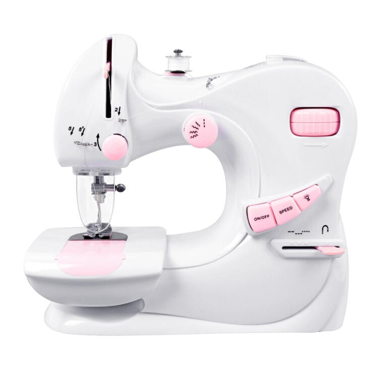 Mini Electric Sewing Machine 2 Speed Portable Desktop Handheld Household with LED Light US Plug