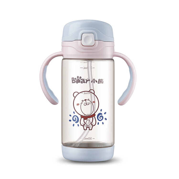 3 in 1 Infant Baby Water Training Cups Stainless Steel Handle Water Straw Bottle