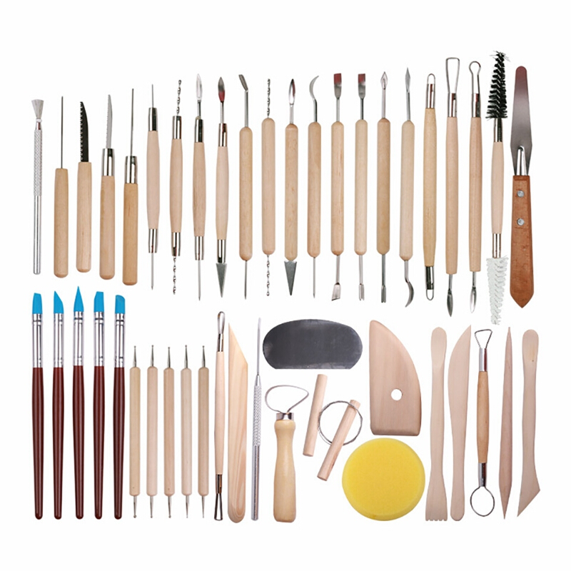 15pcs Clay Sculpting Tool Kit DIY Pottery Ceramic Polymer Shaping Modeling Craft Tool for Clay Pottery Sculpture Pottery Tools