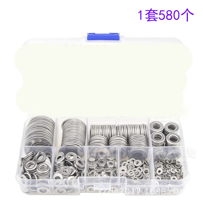 Nut 9 Sizes Flat Washer for Home Appliances Automotive Gasket Set Fixing Stainless Steel Simple to Use