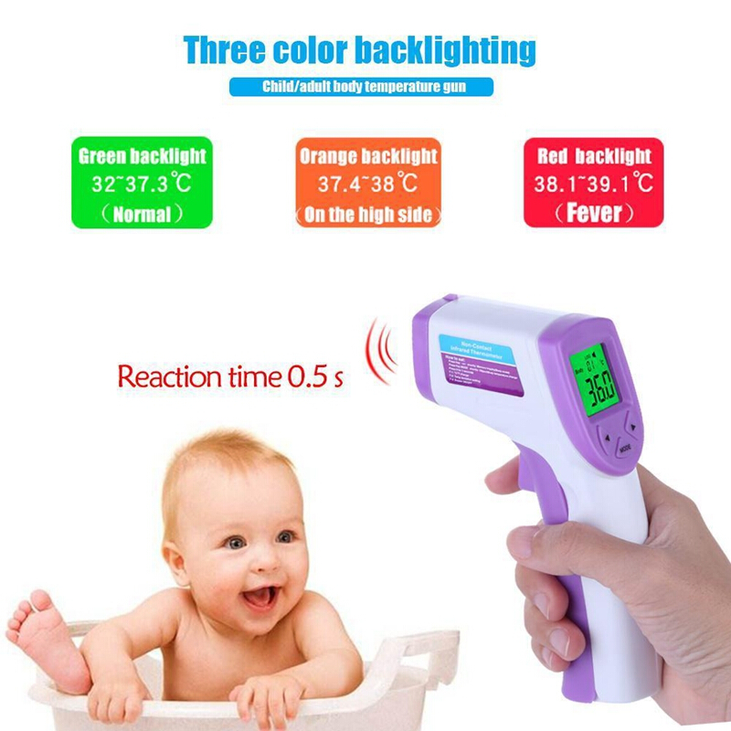 Non contact Digital LCD Temperature Thermometer  Infrared for Baby Adult Child