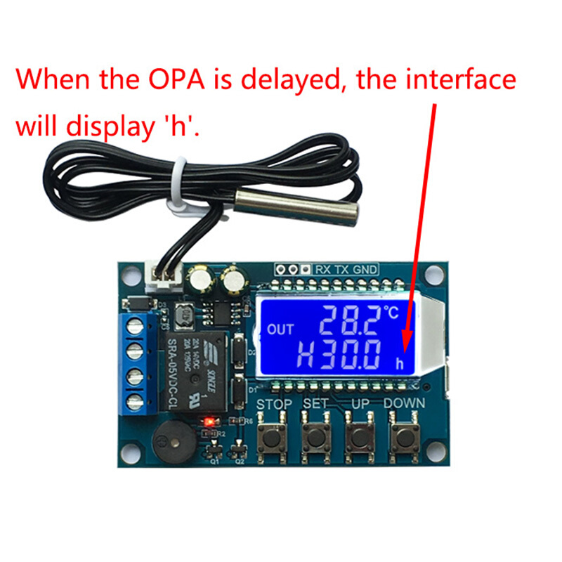 Digital Thermostat Precision LCD Display Temperature Controller Module With Fan