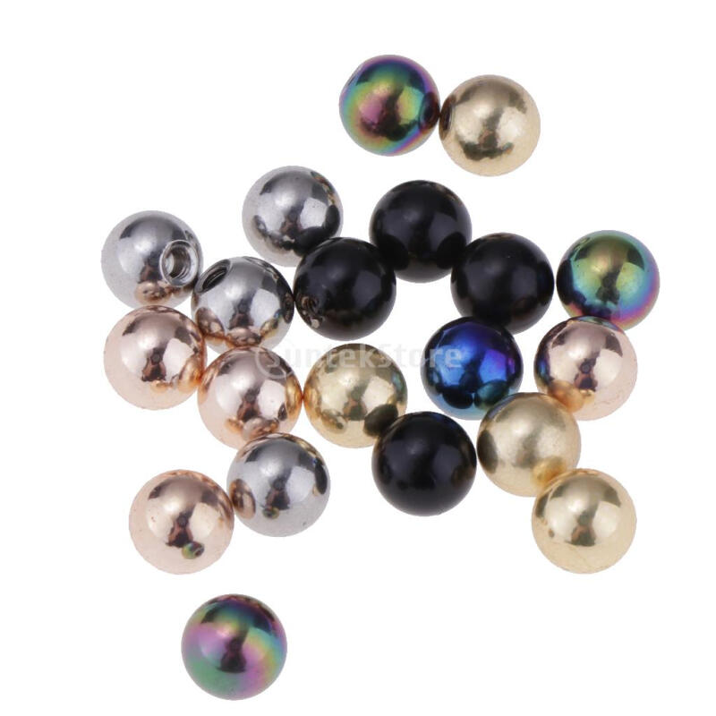 20 Piece Mixed Color Stainless Steel 16g Piercing Jewelry 5mm Replace Ball