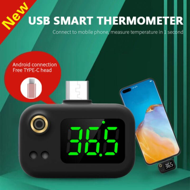 Mini Portable Infrared Usb Thermometer With Type-C/android/apple Plug For Xiaomi/iphone X/11/12 Mobile Phone Digital Thermometer
