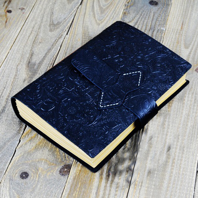 Notebook with Password Lock Code Lock Leather Blank Diary A5 size
