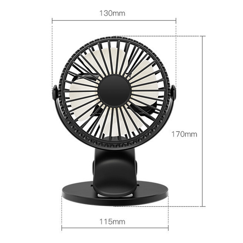 "4/"" INCH PORTABLE USB FAN MINI BLACK COOLING DESK FANS FOR HOME OFFICE PC LAPTOP"