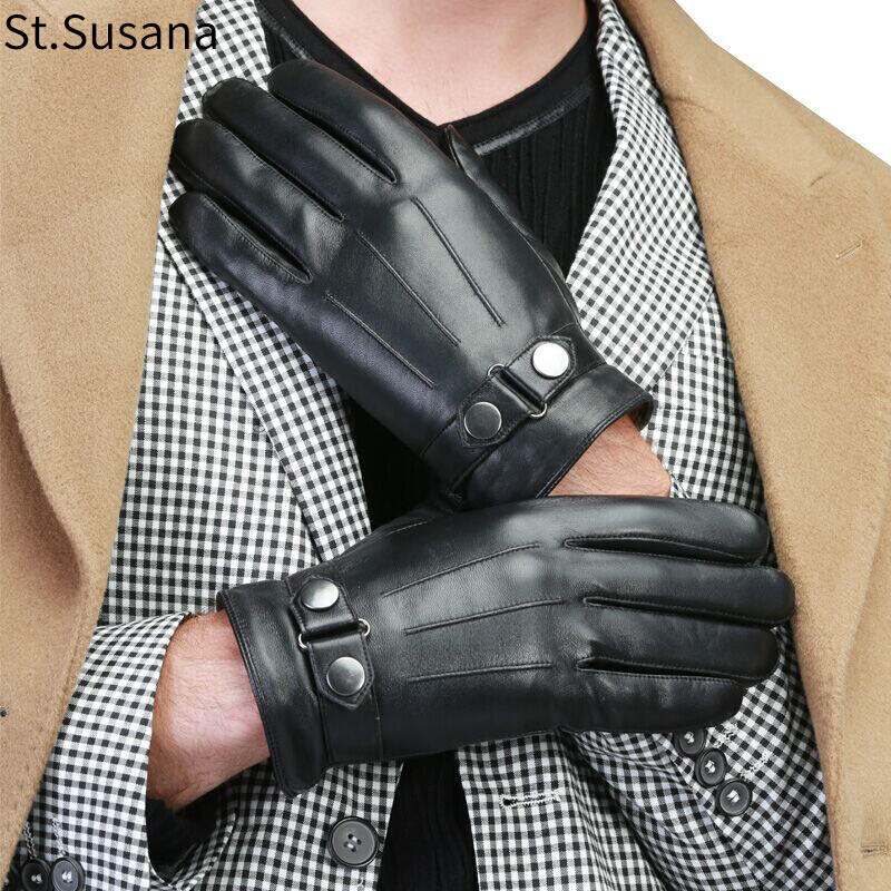 Grey Sheep skin leather driving gloves for Men