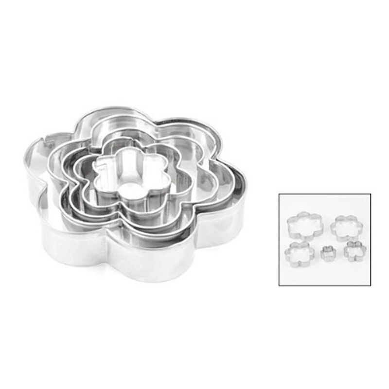 Pastry Chocolate Cookies Cutter Star Flower Shape Biscuit Slicer Heart Shape