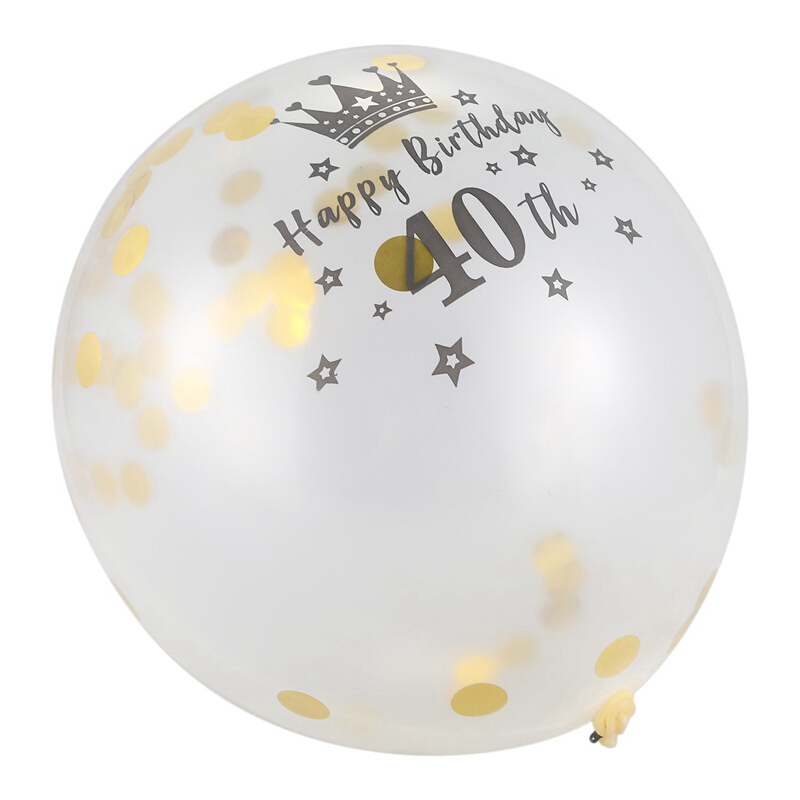 5pc 36Inch Giant Clear Latex Confetti Balloons Birthday Wedding Party Decoration