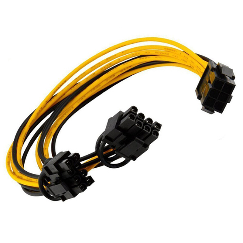 6-pin//8-pin 6-pin Power Splitter Cable Adapter Splitter Cable Power Supply