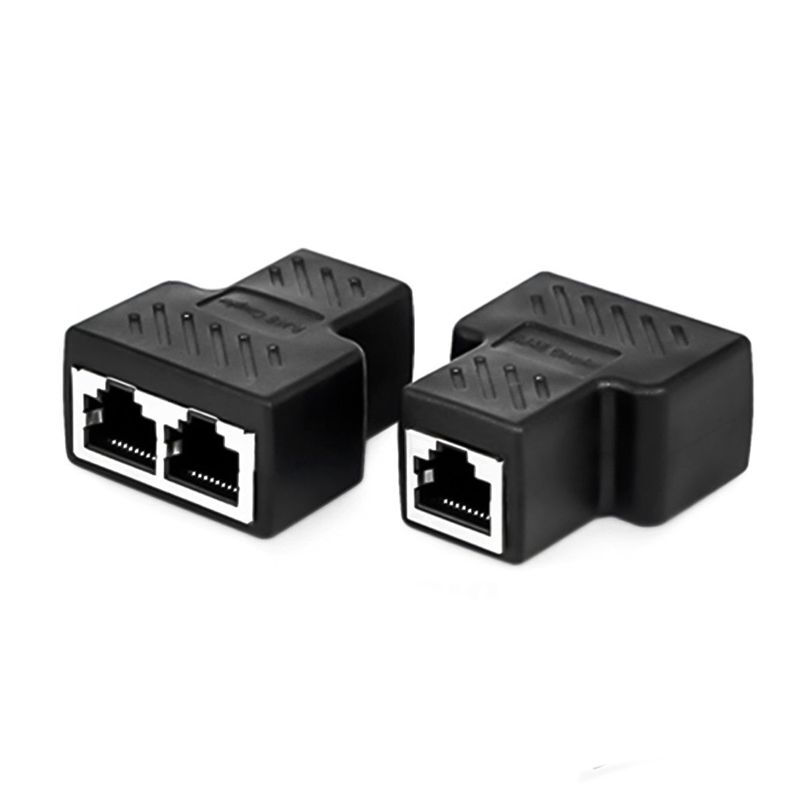RJ45 Male to 2 Female Splitter DSL LAN Network Ethernet Adapter Connector Cable