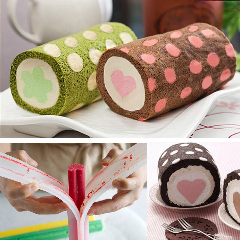 Diy Hand Soap Mold Heart-Shaped Cake Mould Silicone Tube Column Mould For Home