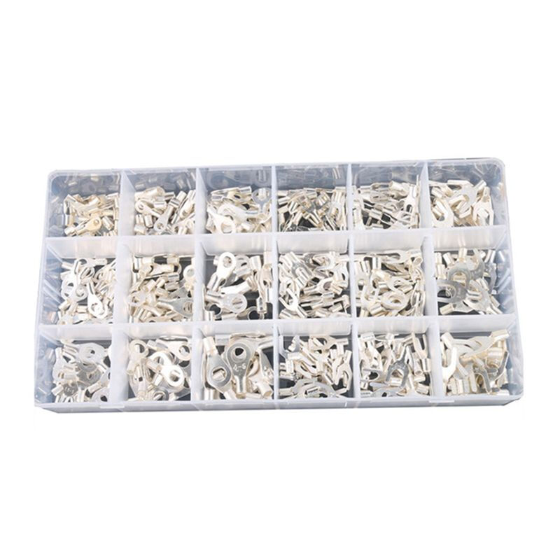IT-420 420Pcs//Box 18 In Terminals Non-Insulated Ring Fork U-type Female Kit Wire