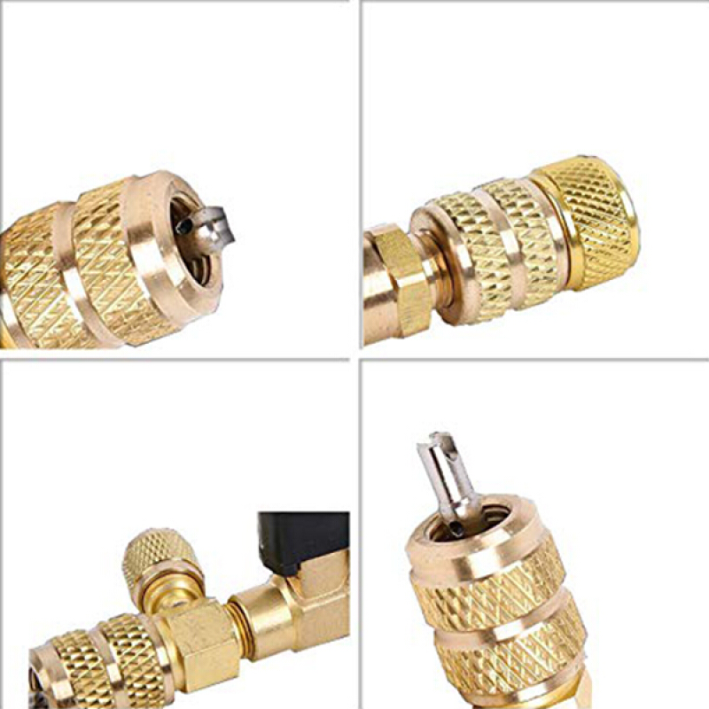 Bicycle Schrader Valve Caps W// Core Removers Tools gold color NEW internal seal