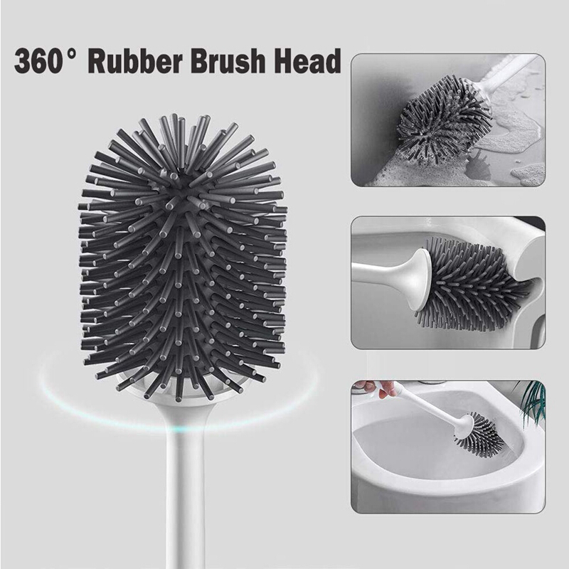 Better Grip Toilet and Rim Bowl Brush With Caddy
