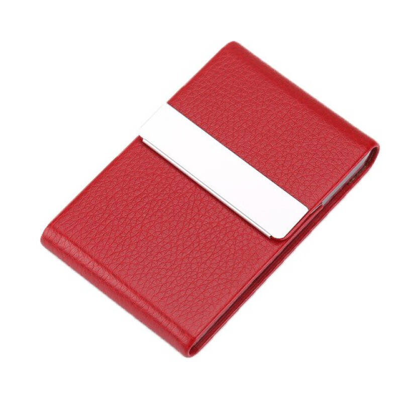 1pc Cigarette Case Smoking Accessories Cigar Storage Box Stainless Steel Multifunction Card Cases Pu Tobacco Holder Jwjkb4