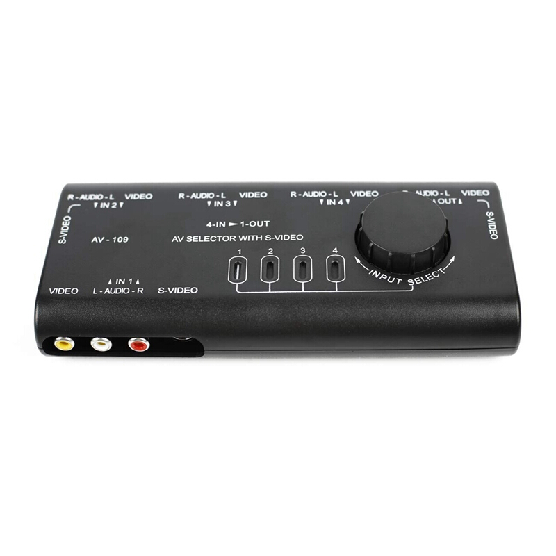 3 PORT/WAY AUDIO 2 RCA SWITCH BOX IN/OUT MANUAL SELECTOR SPLITTER ...