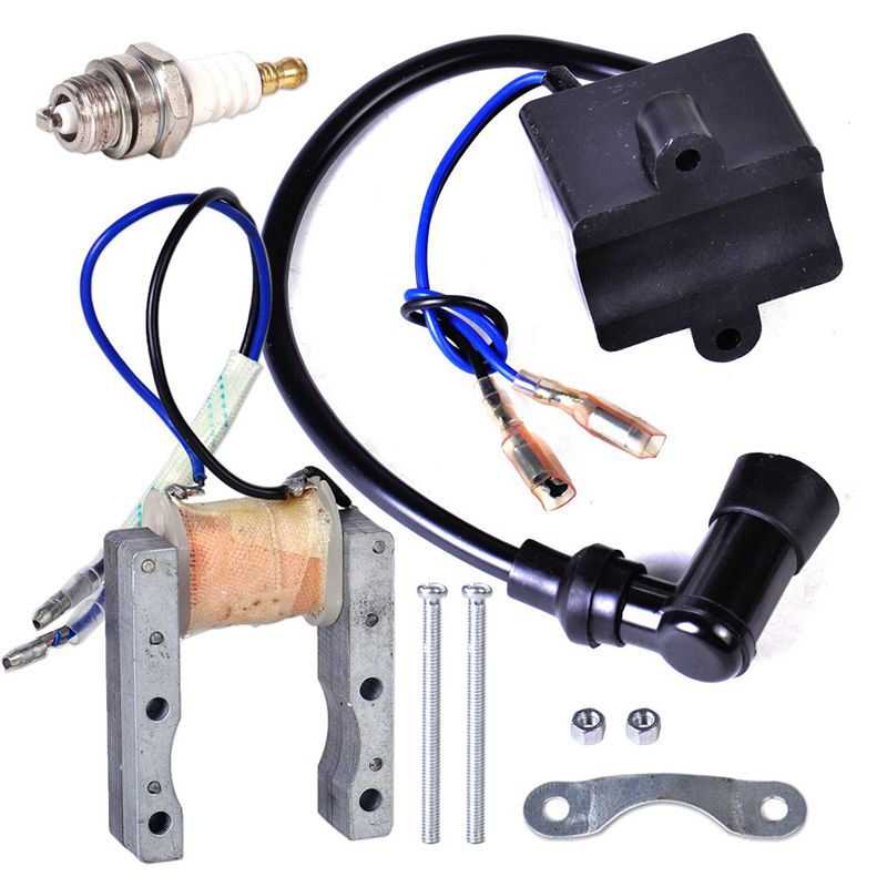 CDI Ignition Coil For 49cc 50cc 60cc 66cc 80cc 2-Stroke Engines Motor Motorized